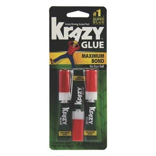 Krazy Glue KG48812 Maximum Bond Super Glue, 4 Oz, Package Of 3