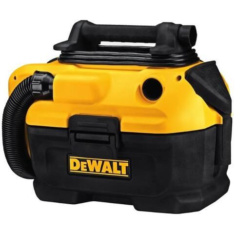 DeWalt 2 gal. Corded/Cordless Wet/Dry Vacuum 20 volt Yellow 11.1 lb.