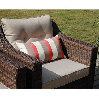 Link to Outdoor 2 Piece Single Sofa Set Patio Garden Furniture Armchair with Beige Olefin Cushions Similar Items in Outdoor Sofas, Chairs & Sectionals