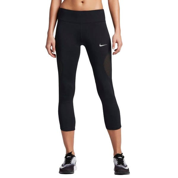 Shop Nike Womens Yoga Legging Mesh Inset Cropped Overstock 22371408