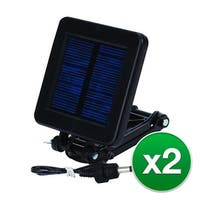 Moultrie MFHP12349 Deluxe Solar Panel with Redesigned Universal Connectors & 6 Volt Panel- (2-Pack)