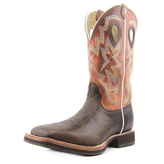 Twisted X Horseman 12'' Men Square Toe Leather Brown Western Boot
