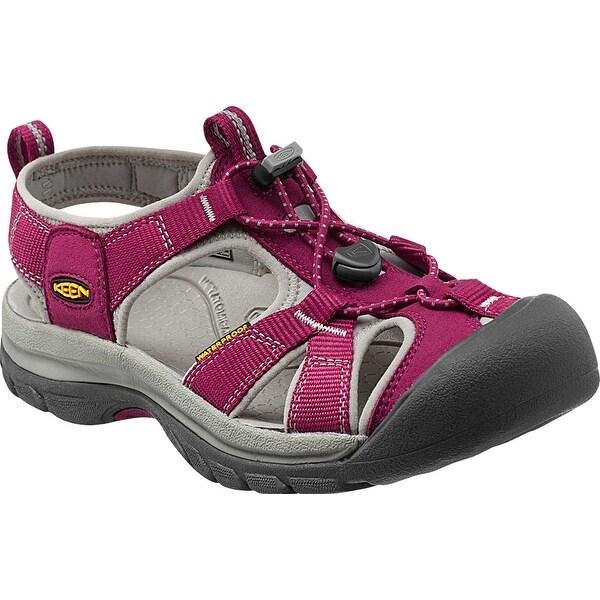 Keen Venice H2 Women Sandal, Water Shoe, Beet Red/Neutral Gray