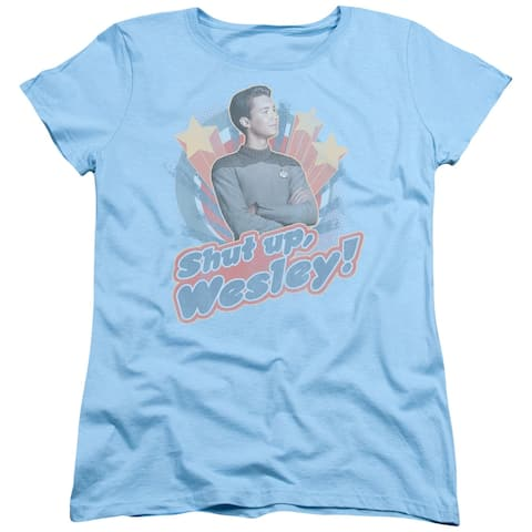 Star Trek/Shut Up Wesley Womens Short Sleeve Shirt