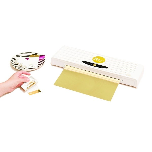 "American Crafts 12"" Heidi Swapp Minc Foil Applicator with Starter Kit of Transfer Folder, Foil and Tags"