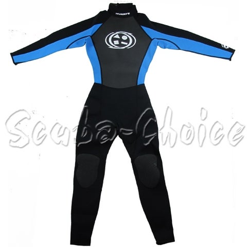 Maui & Sons 3/2 mm Boy's Neoprene Long Sleeve Surfing Suit Black/Blue