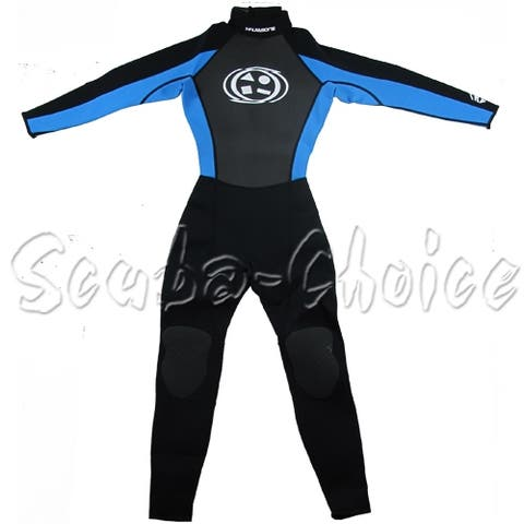 Maui & Sons 3/2 mm Boy's Neoprene Long Sleeve Surfing Suit Black/Blue