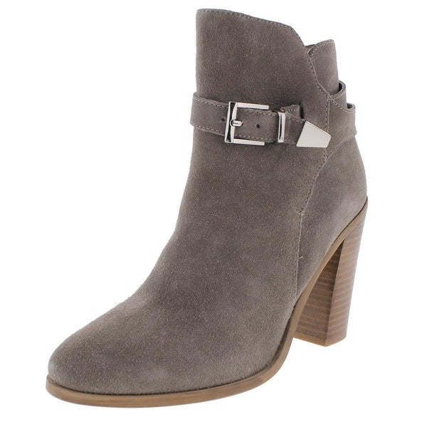 Womens EGO Suede Belted Ankle Boots