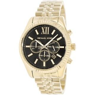 Michael Kors Men's Lexington MK8286 Gold Stainless-Steel Fashion Watch