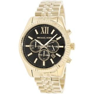 Michael Kors Men\u0027s Lexington MK8286 Gold Stainless-Steel Fashion Watch