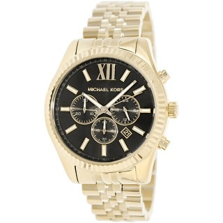 Michael Kors Men's Lexington MK8286 Gold Stainless-Steel Fashion Watch