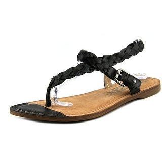 Pikolinos W7B-0552 Women Open Toe Synthetic Black Thong Sandal