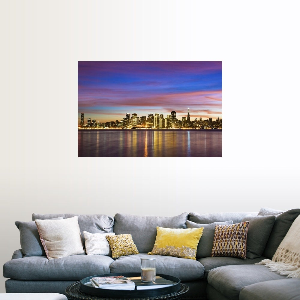 SAN FRANCISCO CALIFORNIA SKYLINE GLOSSY POSTER PICTURE PHOTO PRINT aerial 3750