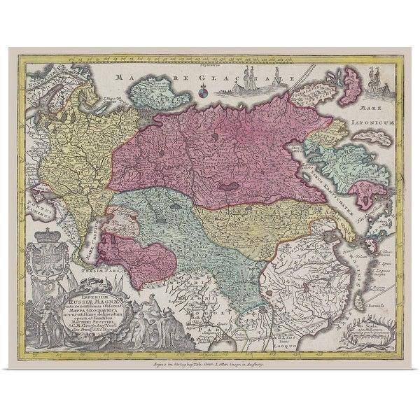 """Antique map of Eurasia"" Poster Print"