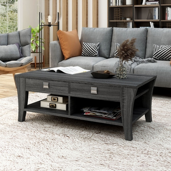 Furniture of America Werc Contemporary Grey Coffee Table. Opens flyout.