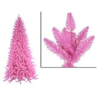 14' Pre-Lit Slim Pink Ashley Spruce Christmas Tree - Clear & Pink Lights