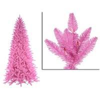 9' Pre-Lit Slim Pink Ashley Spruce Christmas Tree - Clear & Pink Lights