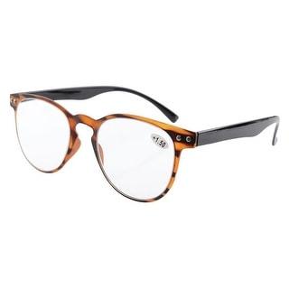 Eyekepper Round Full Coverage Ultrathin Flex Frame Reading Glasses Amber +2.5 - +2.50