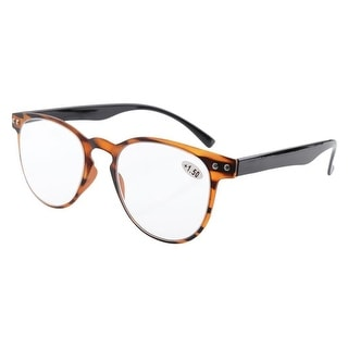 Eyekepper Round Full Coverage Ultrathin Flex Frame Reading Glasses Amber +3.5