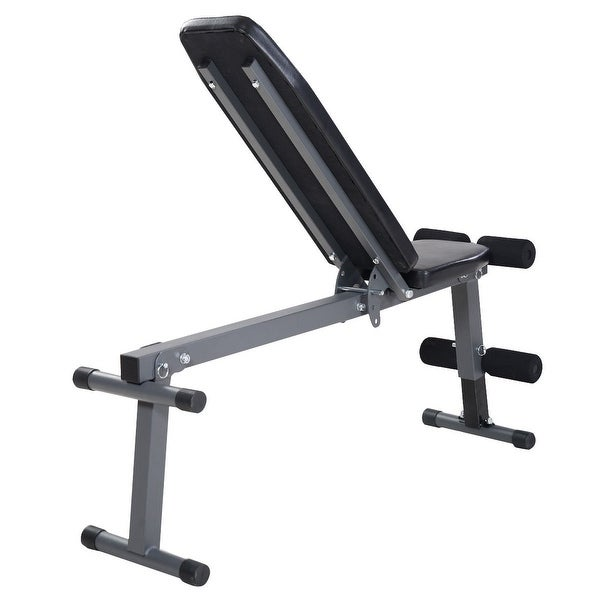 Costway Adjustable Foldable Sit Up AB Incline Abs Bench Flat Weight Press Gym