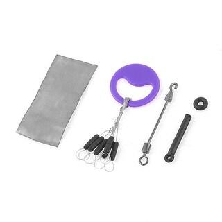 4 in 1 Set Black Purple Fishing Floater Bobber Sinker Connector Fish Tackle