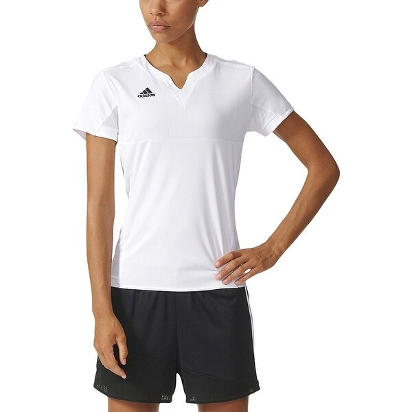 a64c4d943 Shop Adidas Women's Tiro 15 Jersey T-Shirt White - On Sale - Free ...