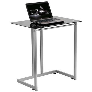 Montclair Black Tempered Glass Home/Office Computer Desk
