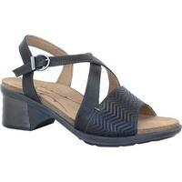 Dromedaris Women's Sienna Slingback Sandal Black Leather