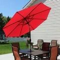 Sunnydaze Aluminum 9 Foot Solar Patio Umbrella with Tilt & Crank - Thumbnail 7