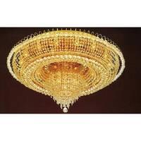 French Empire Crystal Flush Chandelier Lighting H19 x W39