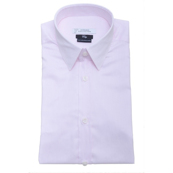 Versace Men City Fit Dress Shirt V300000 VC4009 V680 Pink
