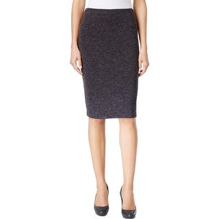 Calvin Klein Womens Pencil Skirt Textured Heathered