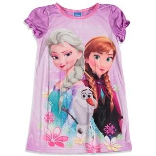 Disney Girls 4-10 Frozen Gown - Purple
