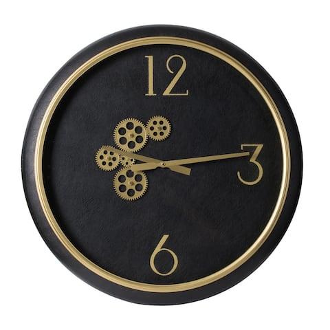 A&B Home Modern Chic 20-inch White Marble Wall Clock