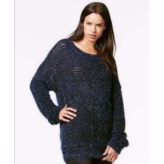 Rachel Rachel Roy Metallic Pullover Sweater Sapphire Combo L - Large