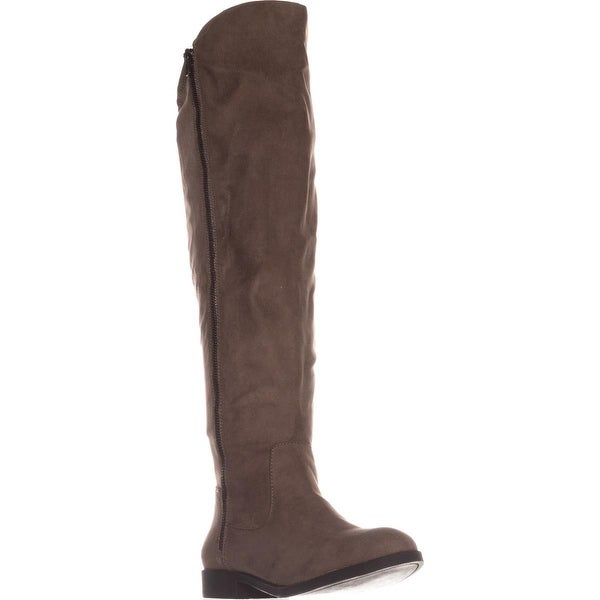 SC35 Hadleyy Wide Calf Knee High Boots, Truffle