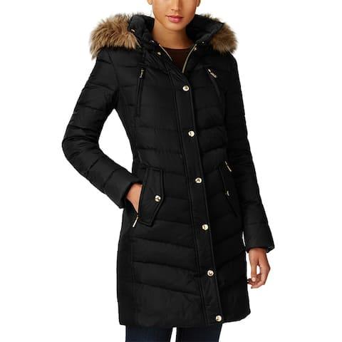 Michael Michael Kors Black Down 3/4 Puffer Coat