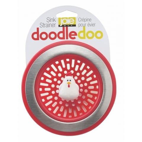 Joie Doodle Doo Chicken-Themed Kitchen Sink Strainer Basket - Red