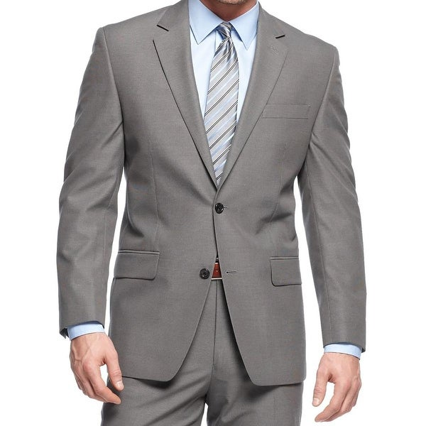 MICHAEL Michael Kors Mens Two-Button Blazer Wool