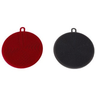 Link to Multi-Purpose Kitchen Double Sided Silicone Scrubbers (Pack of 2) Similar Items in Cleaning Supplies