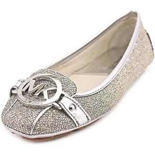Michael Michael Kors Fulton Women Round Toe Canvas Silver Flats