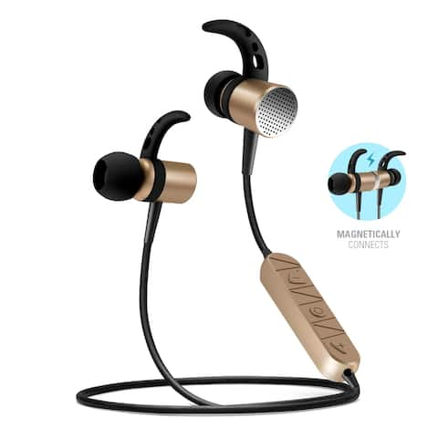 Overtime Wireless Earbuds Metal Alloy Magnetic Headphone with Mic