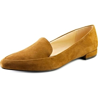 Isaac Mizrahi Maggie Women Pointed Toe Suede Tan Loafer