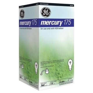 GE 26439 Mercury Vapor Lamp, 175 Watt, Mogul White