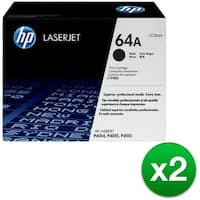 HP 64A Black Original LaserJet Toner Cartridge (CC364A)(2-Pack)
