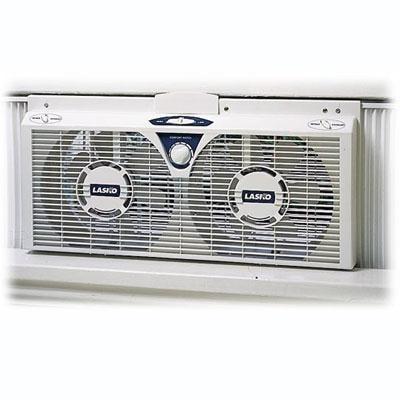 Lasko 2138 8″ Electrically Reversible Twin Window Fan
