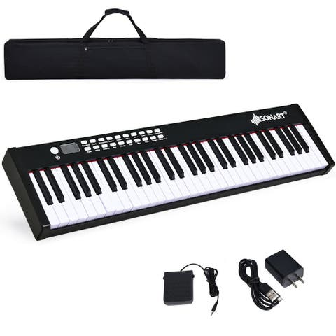 BX-II 61-key Portable Weighted Digital Piano with Bluetooth & MP3