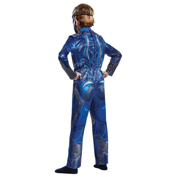 shop blue and silver power ranger children costumes medium overstock 29658558 blue and silver power ranger children costumes medium