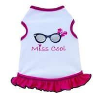 Miss Cool Dog Tank Dress - White - Large