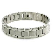 Stainless Steel Duo Finish Link Bracelet - 8.5 inches